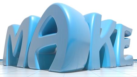 rapid prototyping: Make blue