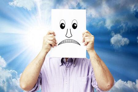 Sad man photo