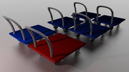 3d Carts Stock Photo