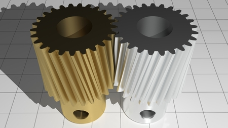 Toothed pinions - Gears Stock Photo