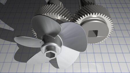 engineer's: Propeller with gear