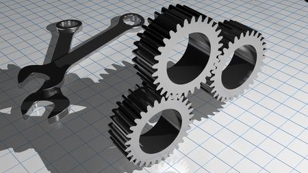 Mechanics and gears Stock Photo