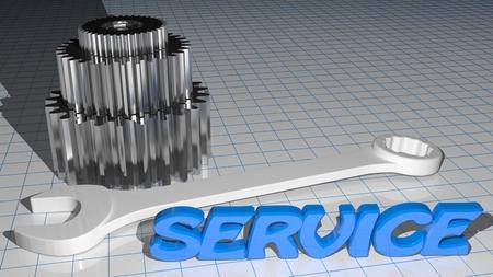 grinding teeth: Service - mechaincs - gears Stock Photo