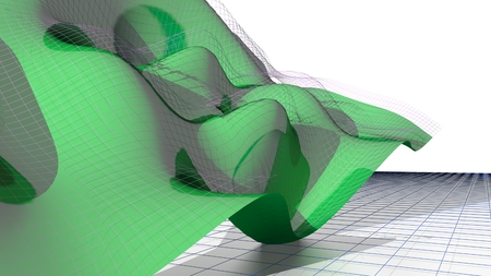 parametric: Waved flying mathematical surface