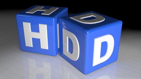 definicion: Cubos HD - Alta Definici�n Foto de archivo