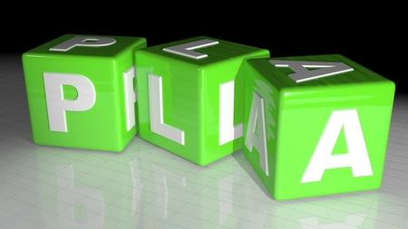 pva: PLA Plastic material