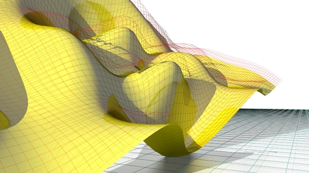 parametric: Waved flying surface - Math Science