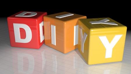 Cubes de bricolage - Do It Yourself Banque d'images - 34923748
