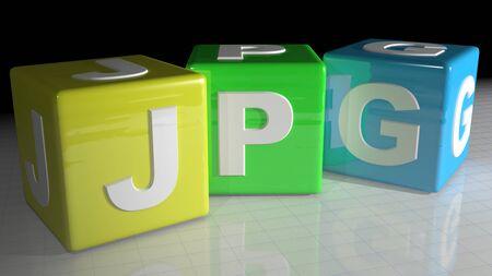 jpg: JPG cubes Stock Photo