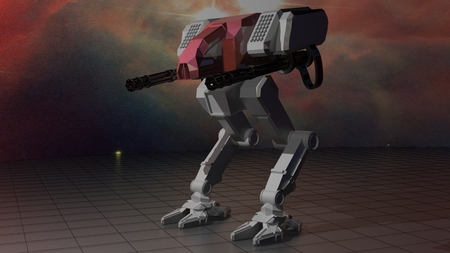 space invaders game: Space robot