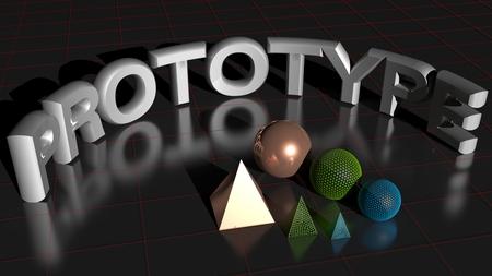 rapid prototyping: the prototype Stock Photo