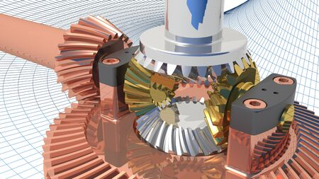 bevel: Differential gear