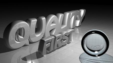La qualité d'abord Banque d'images - 41985431