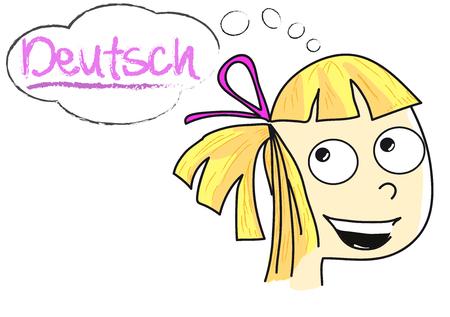 deutsch: Deutsch girl - German girl