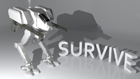 survive: Fight to Survive Stock Photo