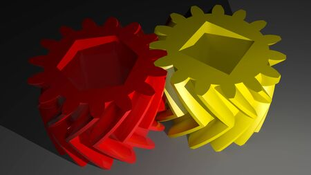 helical: Double helical gears