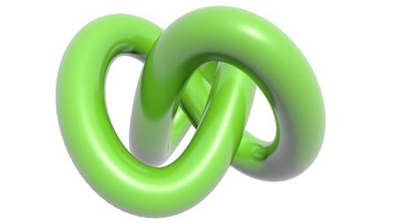 sensations: Green knot Stock Photo