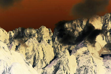 surrealistic: Abstract mountains