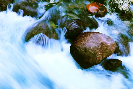 torrent: Water of the torrent Stock Photo