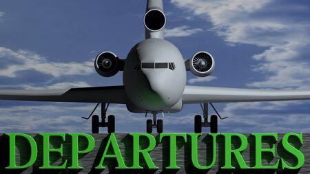 departures: Airplane departures Stock Photo