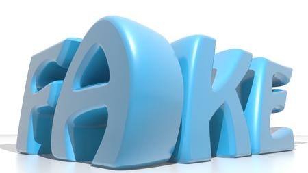 fake: FAKE blue Stock Photo
