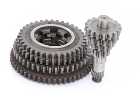 pinion: Pinion and toothed wheels Stock Photo