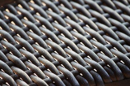 furniture: Wicker furniture Stock Photo
