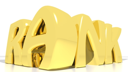 strategical: RANK Gold Stock Photo