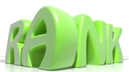 strategical: RANK Green Stock Photo