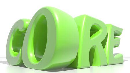 nucleo: N�CLEO verde Foto de archivo