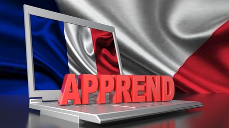 Learning French with computer