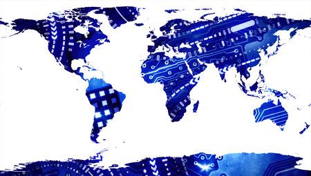 technological: Technological Worldmap