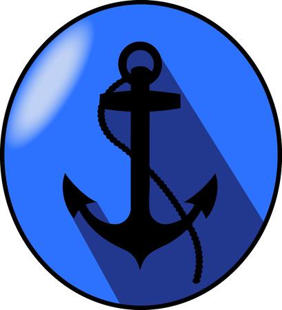 eliptica: Anchor blue elliptical arms Foto de archivo