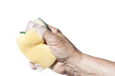 Washing with the sponge Stock Photo