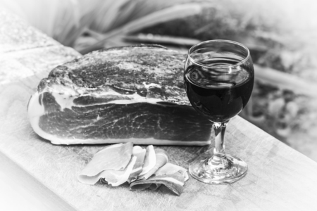 speck: Italian speck with red wine