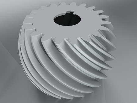 Convex helical gear toothing with involute profile
