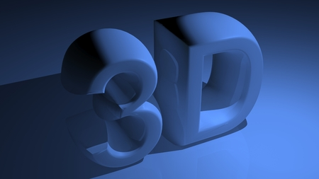 xyz: 3D in blue