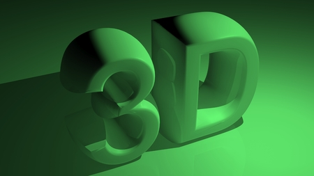 3D in green