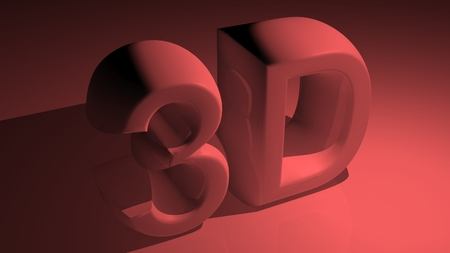 3D in red