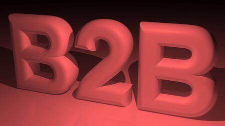 b2b: B2B - Business to Business Foto de archivo