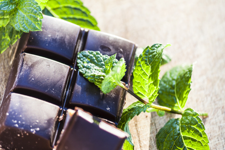 Chocolate and fresh mint