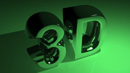 3D metallic green