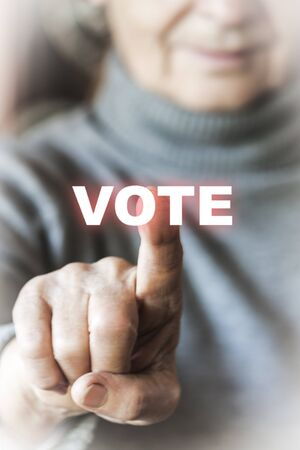voting: Woman is voting