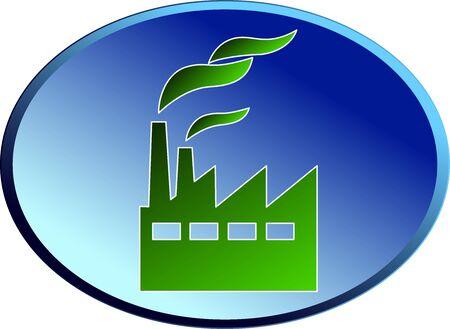 Green industry - Elliptical icon