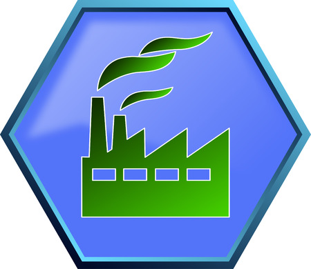 Green industry icon