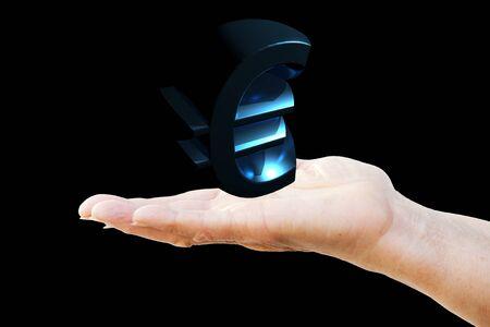 transfer pricing: Euro symbol in blue