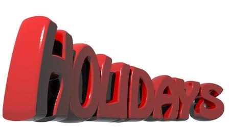 holidays: Holidays red