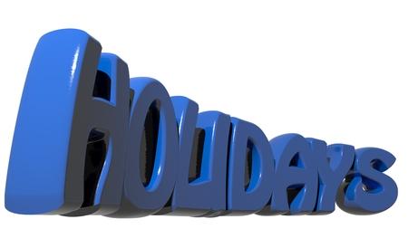 holidays: Holidays blue Stock Photo