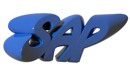 SAP funny in blue letters Stock Photo
