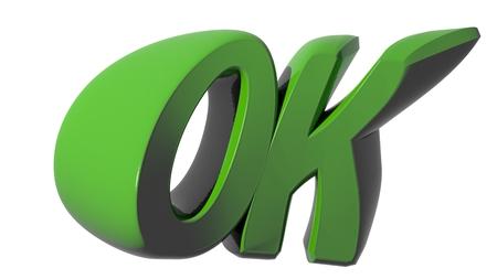 OK green Banco de Imagens